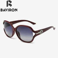 BAVIRON Butterfly Classic Fashion Big Frame Women Sunglasses Special Design On Legs Sun Glasses Woman Polarized