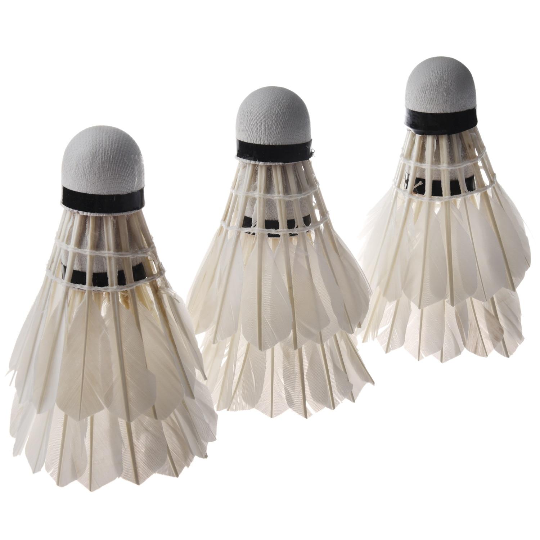 LGFM- 6PCS White Feather Shuttlecocks Badminton