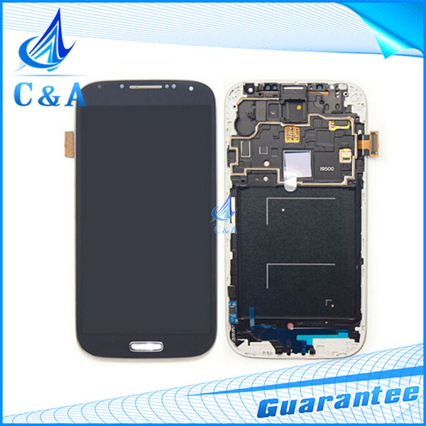 10 pcs DHL/EMS Post tested replacement parts screen for samsung galaxy s4 i9500 i9505 lcd display with touch digitizer+frame