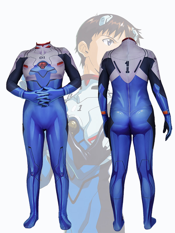 Cosplay EVA Ayanami rei Halloween Costume Bodysuit Jumpsuits Zentai Adult Kids