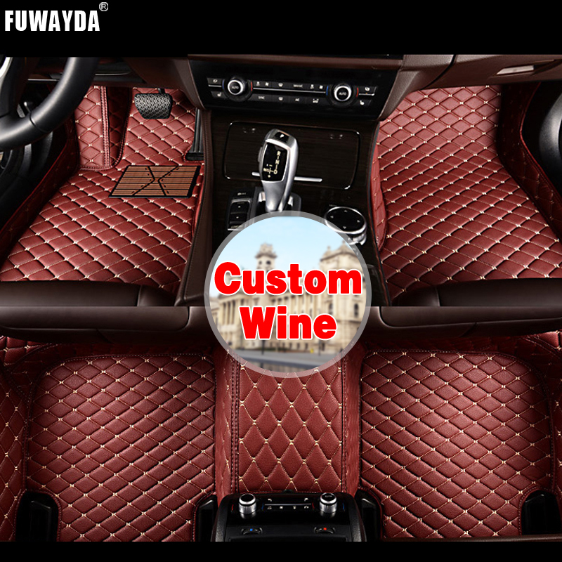 FUWAYDA Custom fit car floor mats made for BMW F10 F11 F15 F16 F20 F25 F30 F34 E60 E70 E90 1 3 4 5 7 GT X1 X3 X4 Good quality 3d fully enclosed short plush seat cover winter seat mats car styling for bmw f10 f11 f15 f16 f20 f25 f30 f34 e60 e70 e90