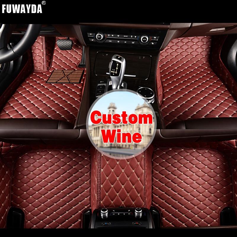 купить FUWAYDA Custom fit car floor mats made for BMW F10 F11 F15 F16 F20 F25 F30 F34 E60 E70 E90 1 3 4 5 7 GT X1 X3 X4 Good quality онлайн