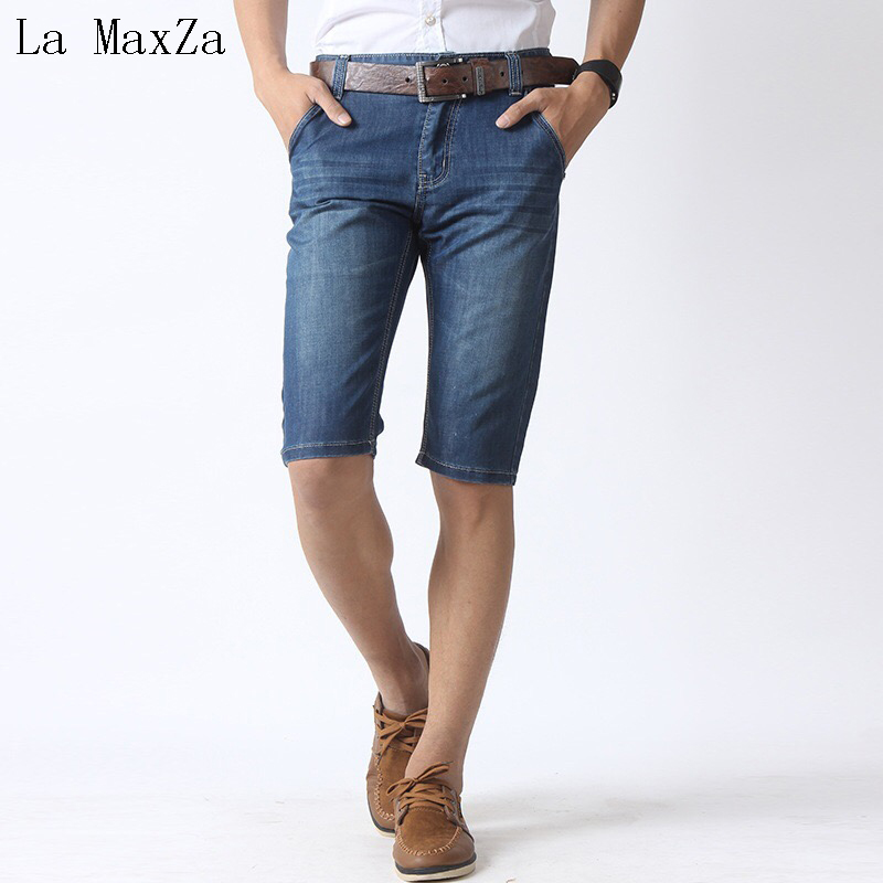 High Quality Ripped Denim Summer Short Men Jeans Straight Pants Men Jeans Trousers