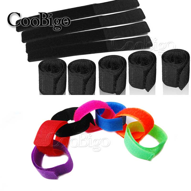 Reusable Velcro Cable Ties Wire Fastener Fastening Cord Rope Organizer Holder US