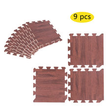 9pcs Imitation Wood Soft Foam Floor Mats Gym Exercise Garage Home Kids Play Pads christmas decorations for home(China)