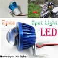 2 pcs lente olho de peixe levou farol da motocicleta cabeça de trabalho luz driving fog spot lâmpada noite universal para todos os moto elétrica bicicleta