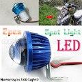 2pcs Fisheye Lens LED Motorcycle Headlight Work Head Light Driving Fog Spot Night Lamp Universal For All Electric Moto Bike