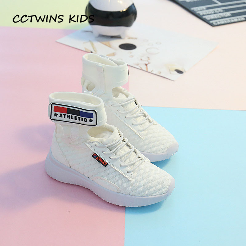 CCTWINS KIDS 2018 Autumn Children Fashion High Top Sneaker Baby Boy Black Casual Trainer Girl Brand Sport Shoe Toddler FH2210