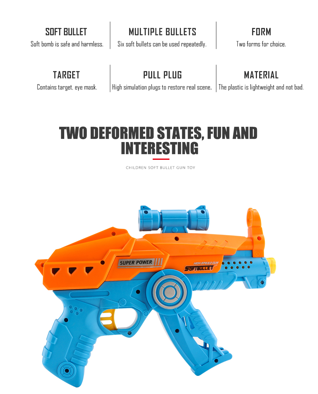 New Soft Bullet Gun Toy Outdoor Indoor Fun Sport High Quality Gift 01 02