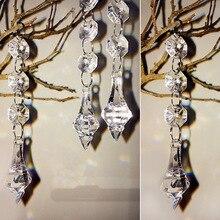 10 шт. Хрустальные акриловые Восьмиугольные бусины 1 подвеска прозрачные акриловые бусины подвески-гирлянды для люстры вечерние свадебные украшения