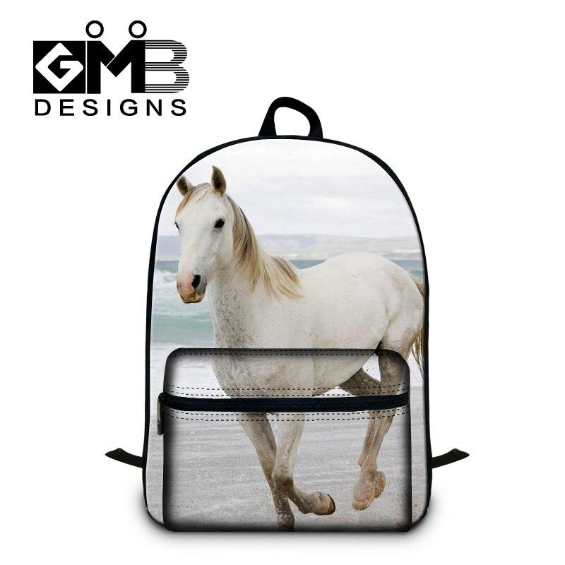Horse School Backpacks for Girls Animal Schoolbags Bagpack for Boys Children Cool Laptop Back Pack Cute Bookbags for Teenagers
