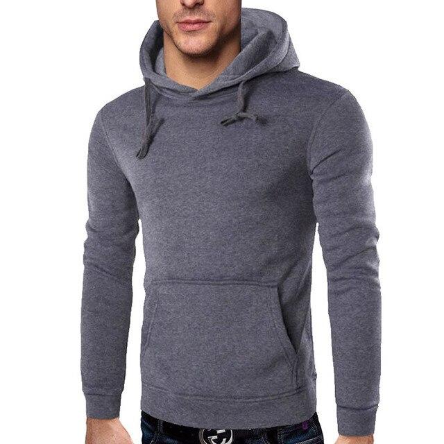 New 2017 Hoodies Men Sudaderas Hombre Hip Hop Mens Brand Solid Color Lapel Pullover Hoodie Sweatshirt Slim Fit Men Hoody 4XL