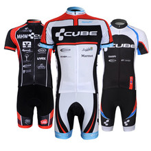 2018 pro team cube cycyling jersey sets Summer ropa ciclismo Short sleeve Cycling Jersey Outdoors Quick dry cycling clothing(China)
