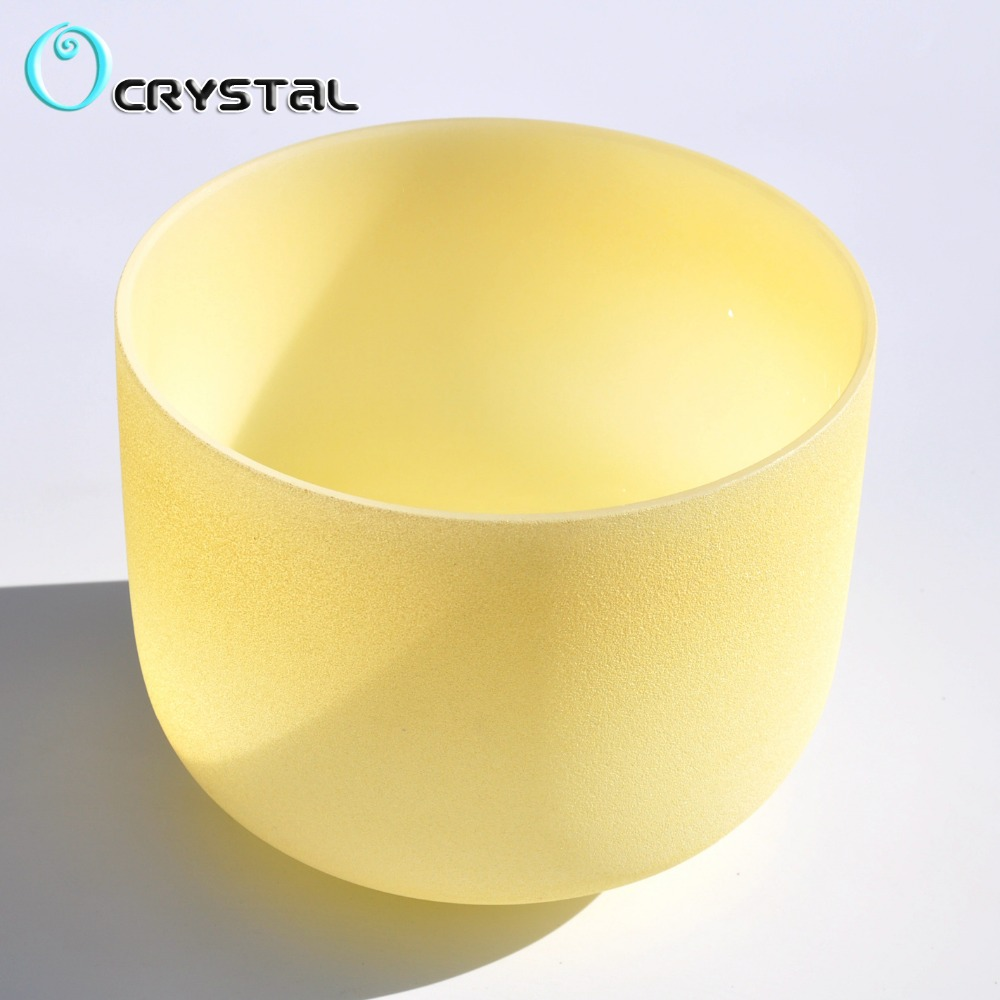 Free Shipping New 10Inch Light yellow Color C D E F G A B Frosted Quartz