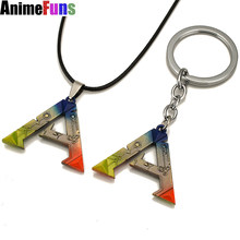 Anime Vintage Jewelry Pendants Necklace ARK Survival Evolved Keychains Key Holders Keyrings Porte Clef Marque Llaveros For Men(China)