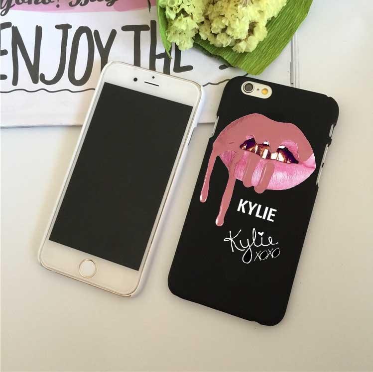 Kasus telepon Sexy Girl Kylie Jenner Bibir Merah Muda Ciuman Kasus - Aksesori dan suku cadang ponsel - Foto 2