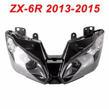 For 13-15 Kawasaki Ninja ZX6R ZX 6R Motorcycle Front Headlight Head Light Lamp Headlamp CLEAR 2013 2014 2015 motorcycle headlight front headlamp light fits 2013 2014 for kawasaki z800 z250 dedicated