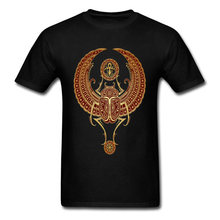 T-shirt 3D T Shirt Men Black Tshirt Red Winged Egyptian Scarab With Ankh Tops & Tees Graphic Clothes Cotton No Fade Printed(China)