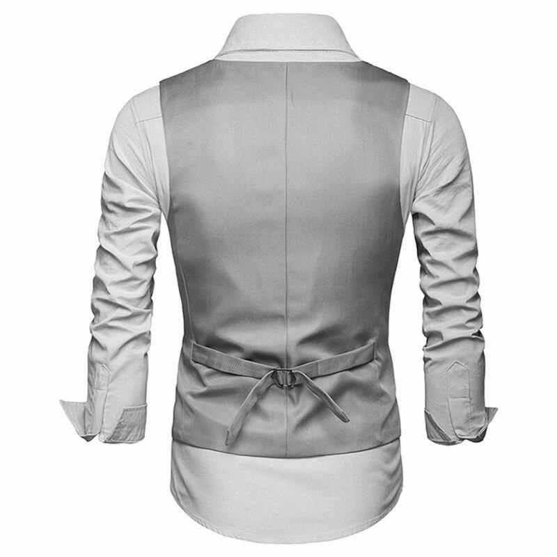 2018 Hot Men vestido Formal traje chalecos Slim Fit hombres traje chaleco masculino boda fiesta chaleco Homme Casual sin mangas negocios chaqueta