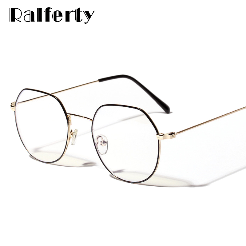 b49454e4a715 Ralferty Anti Blue Ray Glasses Unisex Radiation Protection Computer Goggles  Gold Black Gaming Eyewear Eyeglasses lunette