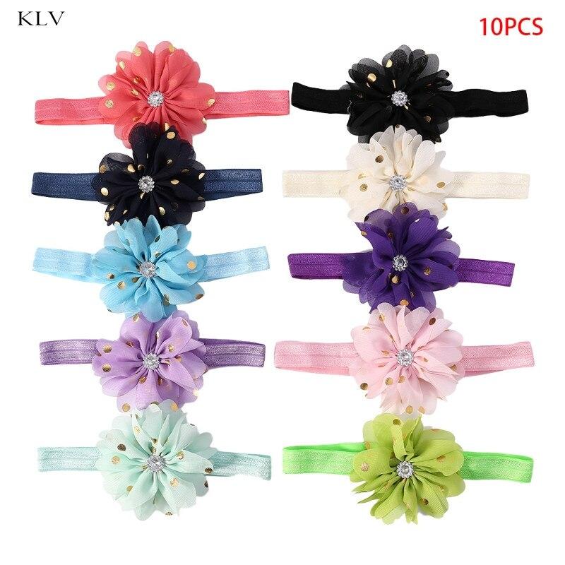 KLV 10 Pcs Baby Hair Band Headband Flower Girl Props Kids Cute   Headwear   Accessories