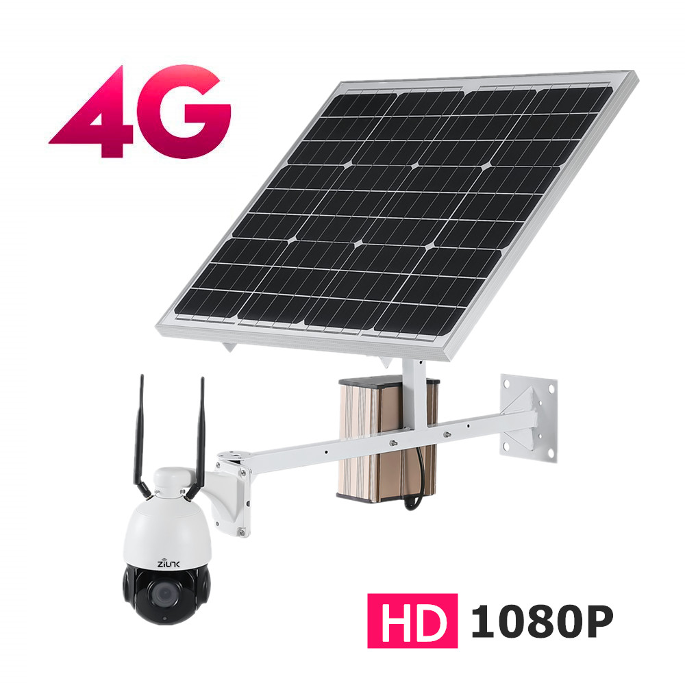3G 4G Solar 3000mAh 60W Outdoor PTZ WIFI IP Camera 1080P 2 0MP HD 5X Optical