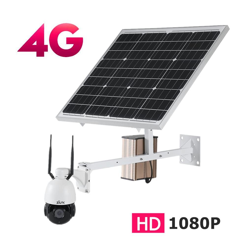 3G 4G solaire 3000 mAh 60 W extérieur PTZ WIFI IP caméra 1080 P 2.0MP HD 5X Zoom optique 2.7-13.5mm bidirectionnel Audio caméra sans fil