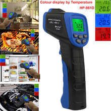 Promo offer Non-contact Digital Laser IR Infrared Thermometer Data Hold Emissivity Adjustable Temperature Gun For Both Indoor Outdoor Use