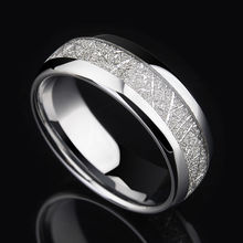 2017 Trendy Saya Brand Silver Tones 8mm Width Tungsten Rings Dome Band High Polished for Man's Party inlay Silver Foil Size 7-11