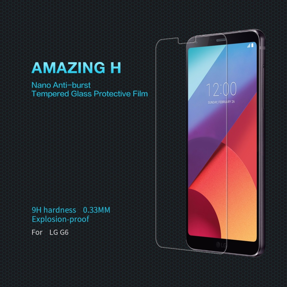 Para LG Vidro G6 Nillkin Surpreendente H/H + PRO Temperado Vidro Protetor de Tela do telefone Para lg g6 (5.7 polegada) película protetora