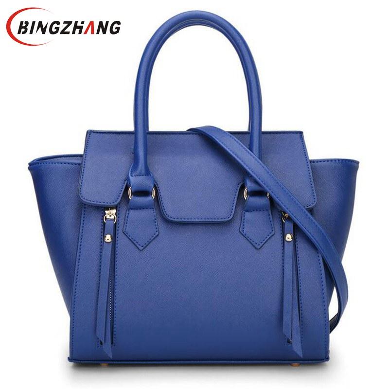 ФОТО Trapeze Women PU Leather Shoulder Bags Designer handbags high quality bolsa feminina 2017 bolsos carteras mujer marca L4-2178