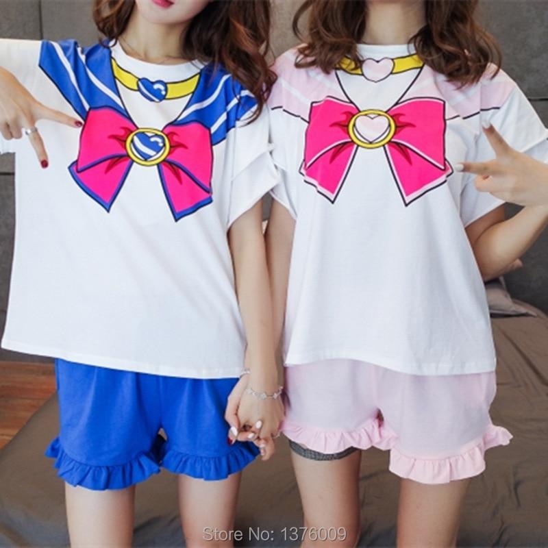 Sailor Moon Cosplay T-shirt T-shirt Անիմե Chibimoon - Կարնավալային հագուստները - Լուսանկար 2