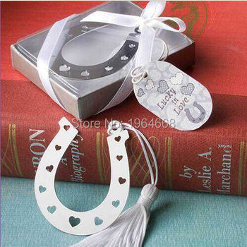 FREE SHIPPING Party Favor horseshoe metal Bookmark 100PCS Bridal Shower, Wedding Favors Decoration Birthday Gift