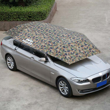Sun Shade Outdoor Umbrella Insulation Windproof Buttons Car Cover Mobile Picnic Auto Oxford Cloth Waterproof Foldable Dustproof