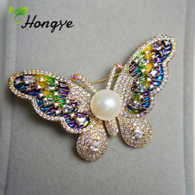 Brooches Jewelry Pins Pearl Butterfly Freshwater Women Luxury Gorgeous-Pin Wedding-Bouquet