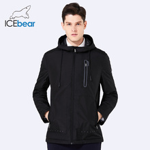ICEbear 2018 new men's  warm jacket man fashion coat windproof hat high quality autumn brand casual clothing BMWC18006D