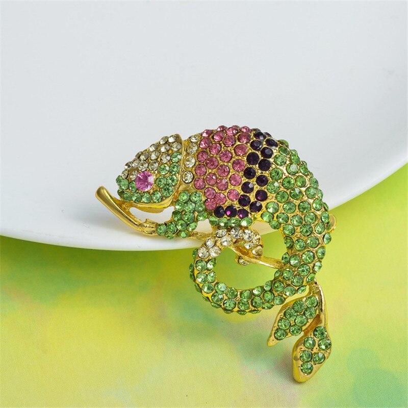 MZC Hot σαύρα Femme Crystal Rhinestone Καρφίτσες για - Κοσμήματα μόδας - Φωτογραφία 6