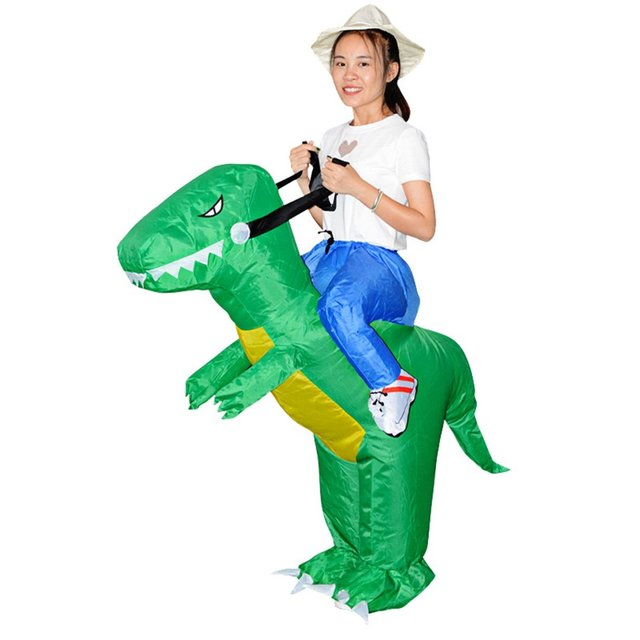 Jampelle Carnival Women Men Dinosaur Inflatable Costumes Funny Party Animal Cosplay