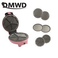 Multifunktionale Elektrische Ei Waffel Maker Donut Kuchen Maschine Mini Muffin Blase Backen Pan Grill Ofen 3 Veränderbar Platten EU-in Waffeleisen aus Haushaltsgeräte bei