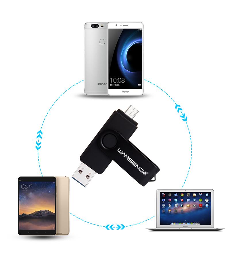 Pendrive OTG con puertos USB 3.0 y micro-USB 4