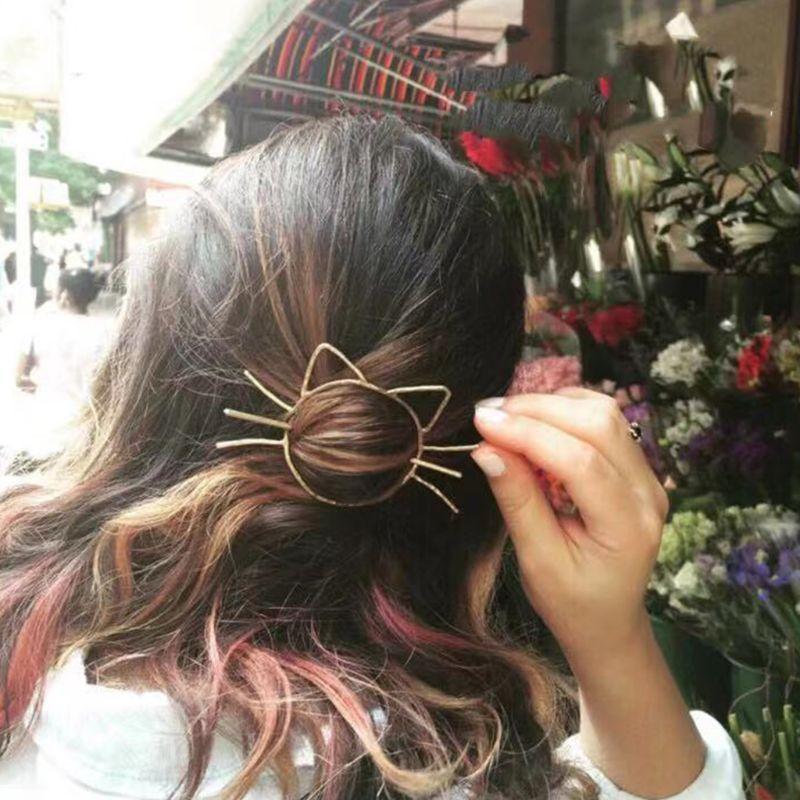 Cute Cat Hairpin 2
