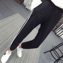 US $2.93 27% OFF|Autumn Fashion Casual Colorful Rainbow Side stripe Pants Female Loose Elastic Waist Chic Pockets Women's Spring Pants-in Pants & Capris from Women's Clothing on Aliexpress.com | Alibaba Group