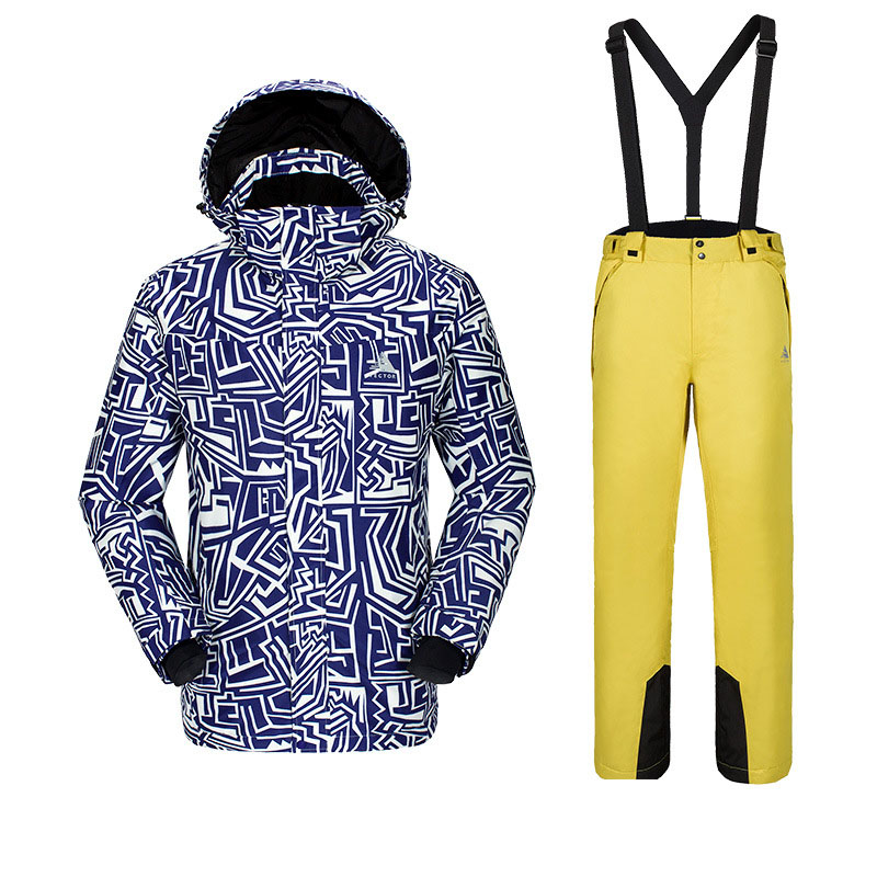 Новая мужская фанерная доска лыжный костюм, для спорта на открытом воздухе Лыжная одежда для альпинистов мужские лыжные штаны ветронепроницаемая Водонепроницаемая теплая одежда - Цвет: C2