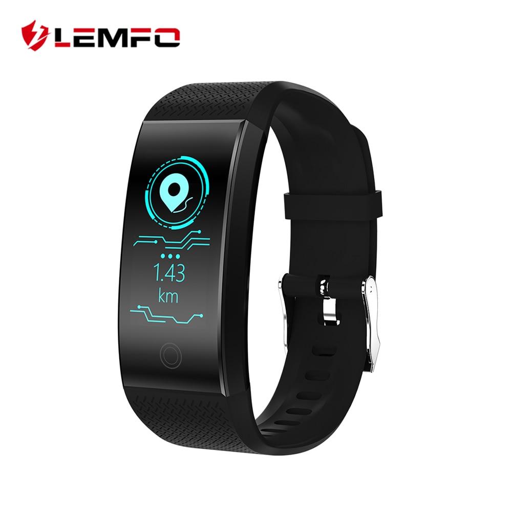 LEMFO Neue HD Farbe Display Fitness Armband IP68 Wasserdichte Multi Motion Berechnung Modus USB Lade Herz Rate Armband