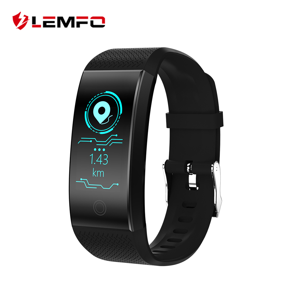 LEMFO New HD Color Display Fitness Bracelet IP68 Waterproof Multi Motion Calculation Mode USB Charging Heart Rate Wristband