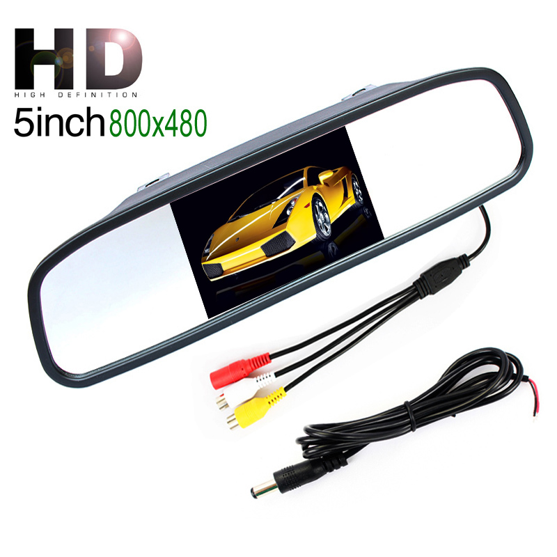 Wholesale Low Price New HD 800*480 5 Inch Digital TFT LCD Full Color Mirror  Parking Car Monitor With 2 Video Input