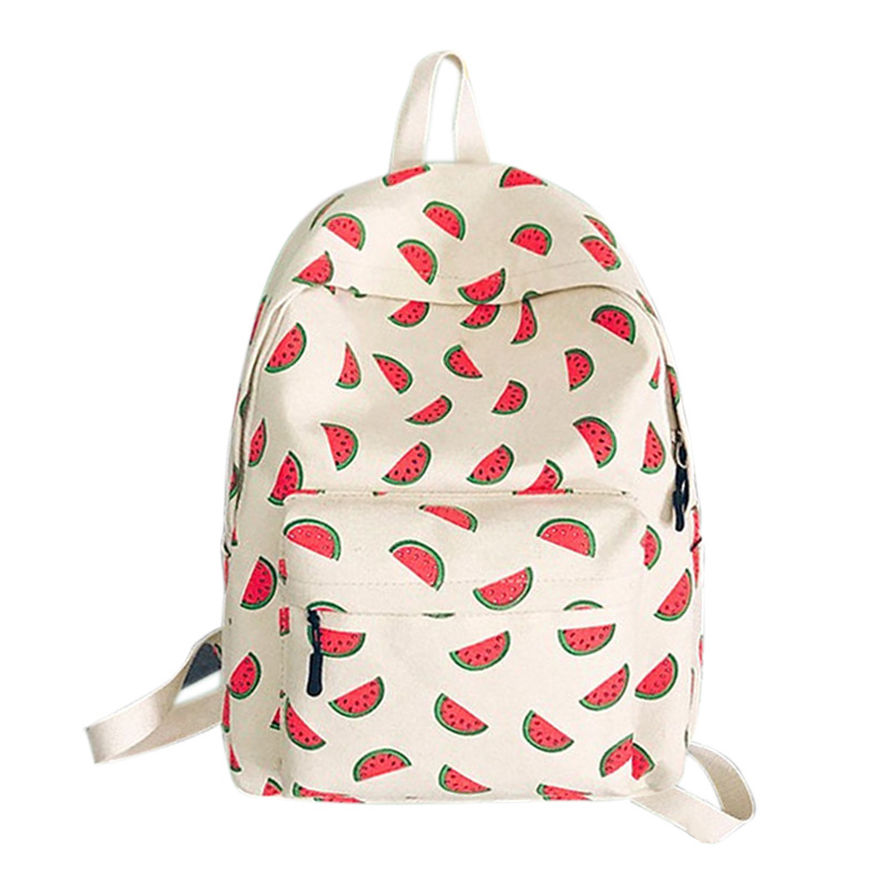 School Bag Teenagers Girls Boys Canvas Backpack Preppy Style Pineapple Printing Backpacks Travel Rucksack Mochila