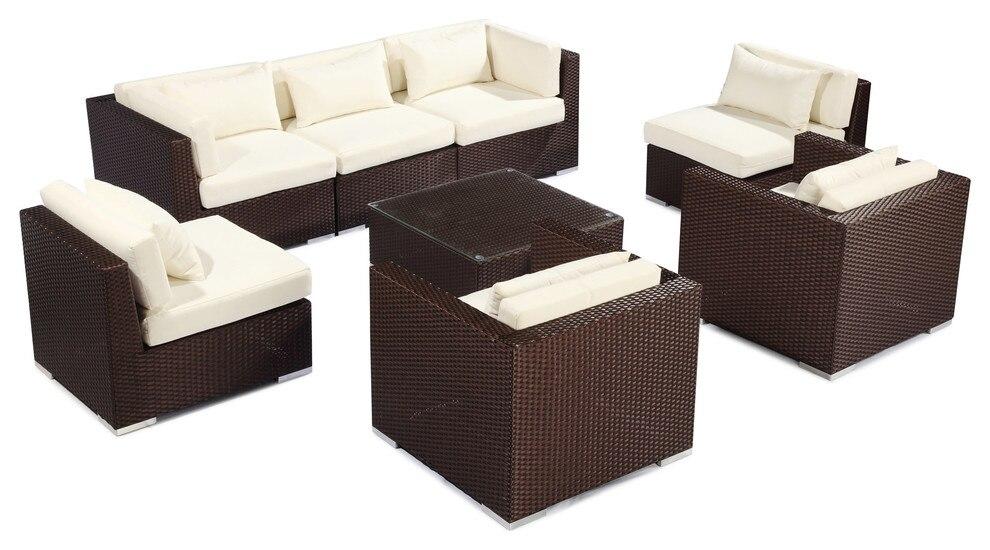 2017 Outdoor Furniture Patio Sofa Sectional Molokai 8pc Set Wicker