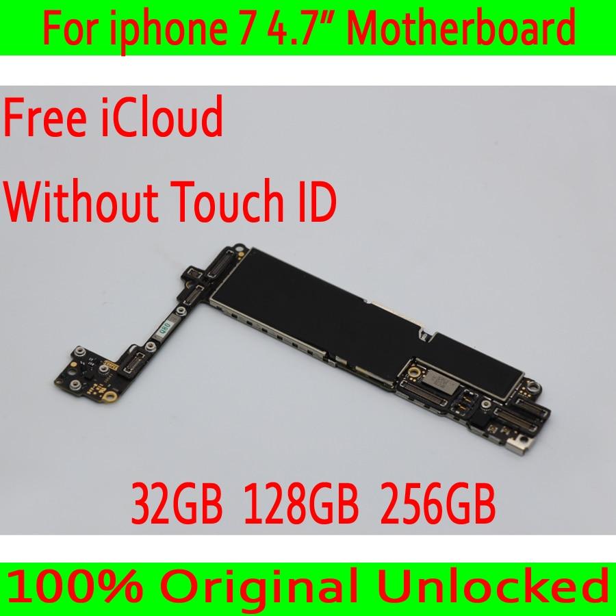 32 ГБ/256 ГБ/128 ГБ для iphone 7 4,7 дюймов материнская плата без Touch ID, Оригинал разблокирован для iphone 7 Mainboard с полным чипом