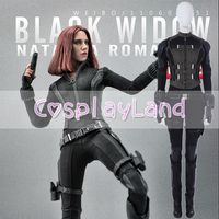 Black Widow Cosplay Costume Fancy Superhero Costume Avengers Infinity War Cosplay Natasha Romanoff Black Widow Women Jumpsuit